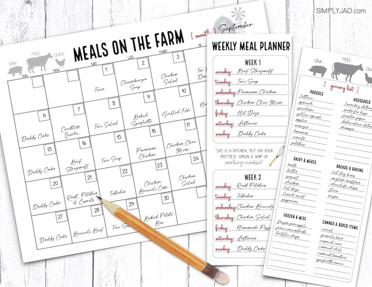 plan your meals for an entire month saves time, money, and stress