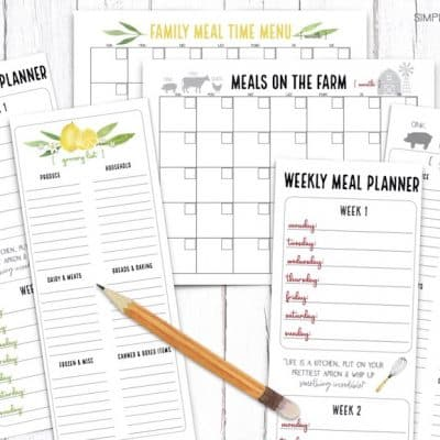 Meal Planning for an Entire Month in 30 Minutes