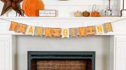 Simple & Cozy Fall Farmhouse Fireplace Mantle Decor
