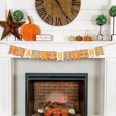 Simple & Cozy Fall Farmhouse Fireplace Mantle Decor