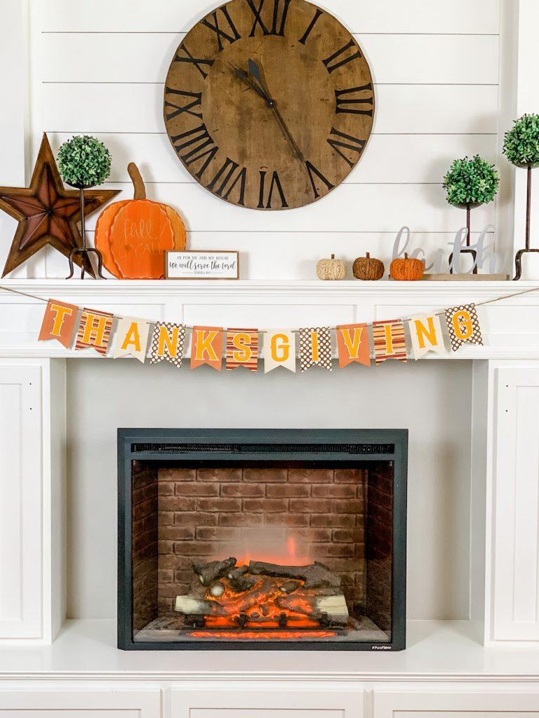simple and cozy fall farmhouse mantle decor