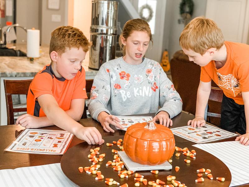 Family Game Time with Halloween Bingo