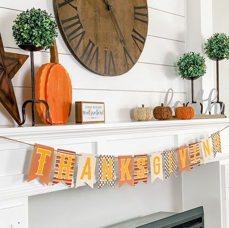 simple and cozy fall farmhouse mantle decor to celebrate fall