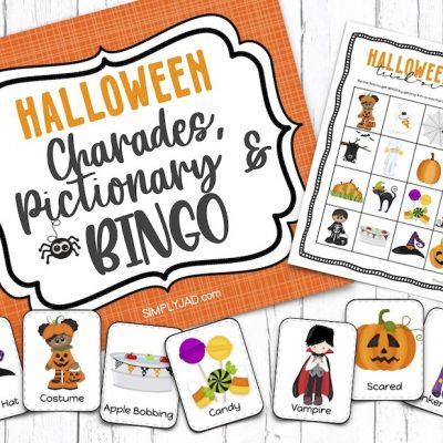Family Halloween Games: Charades, Pictionary, and BINGO