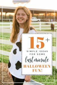 Simple and Easy Ideas for some Last Minute Halloween Family Fun