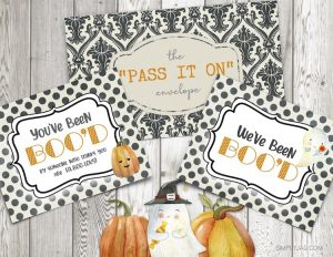 "free printable for ""You've Been Boo'd"" halloween gift giving"