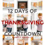 12 Days of Thanksgiving Countdown family gratitude challenge