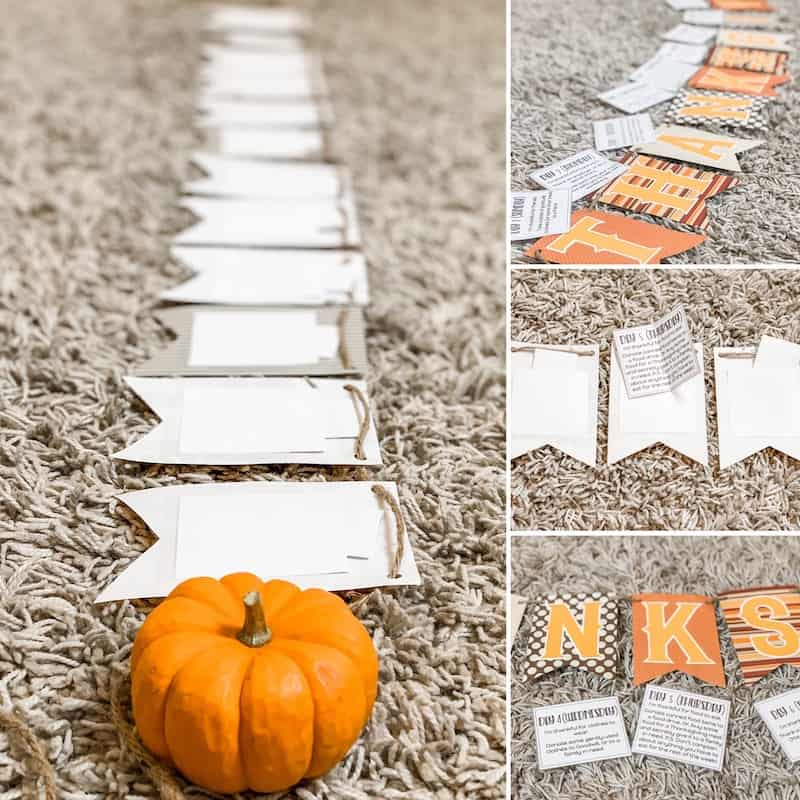 Setting up the 12 Days of Thanksgiving gratitude activity countdown