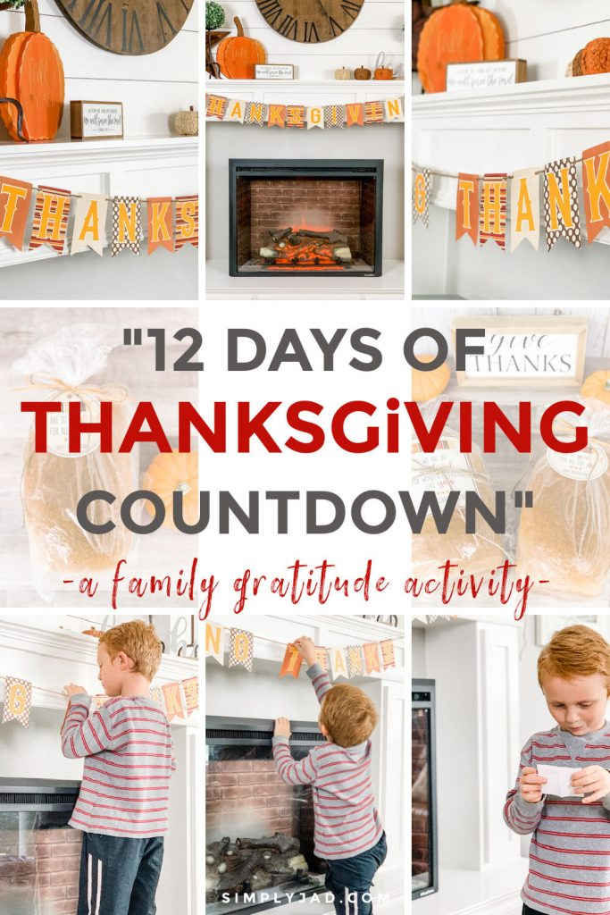 A Family Gratitude Challenge for the 12 Days of Thanksgiving Countdown