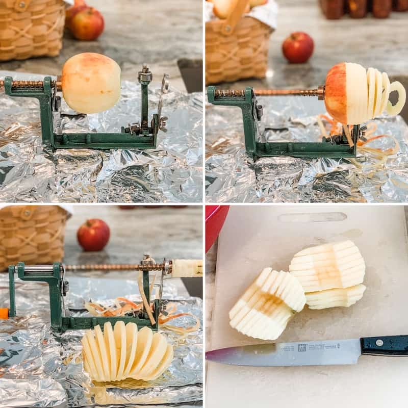 how to use the apple peeler corer slicer for peeling apples