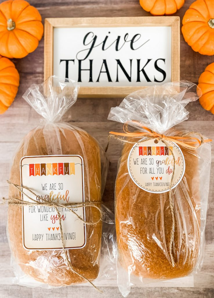 Thanksgiving Gift Tags for giving grateful gifts