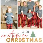 learn how to customize your family Christmas pajamas