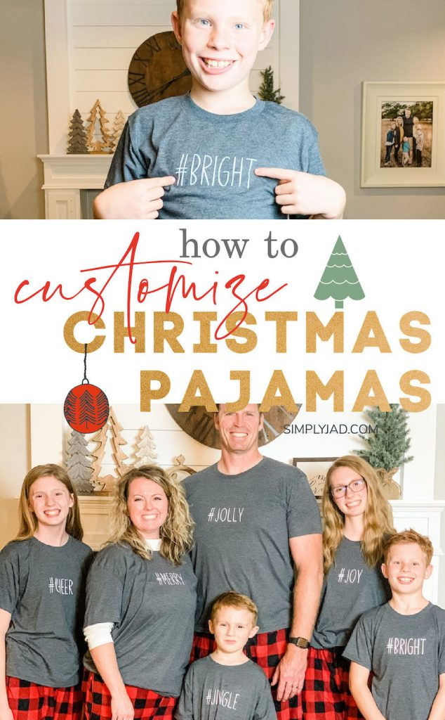 Adding a personal and customized touch to your matching family Christmas pajamas