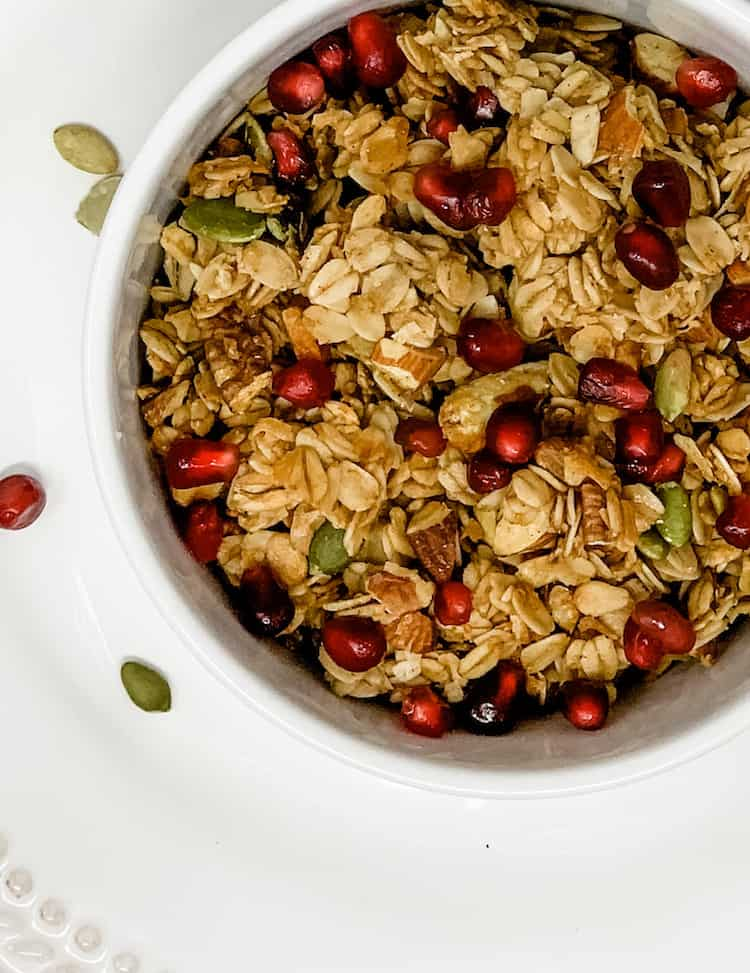 add pomegranate seeds to your homemade granola