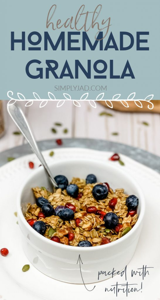 healthy homemade granola that is packed with nutrition