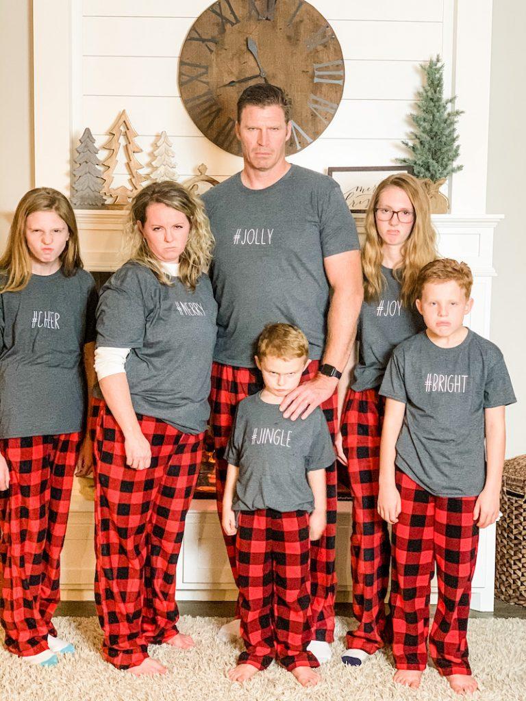 how to customize your matching Christmas pajamas