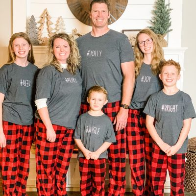 How to Customize Matching Family Christmas Pajamas