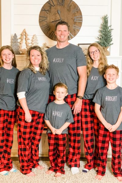 how to customize matching family Christmas pajamas with iron-on vinyl